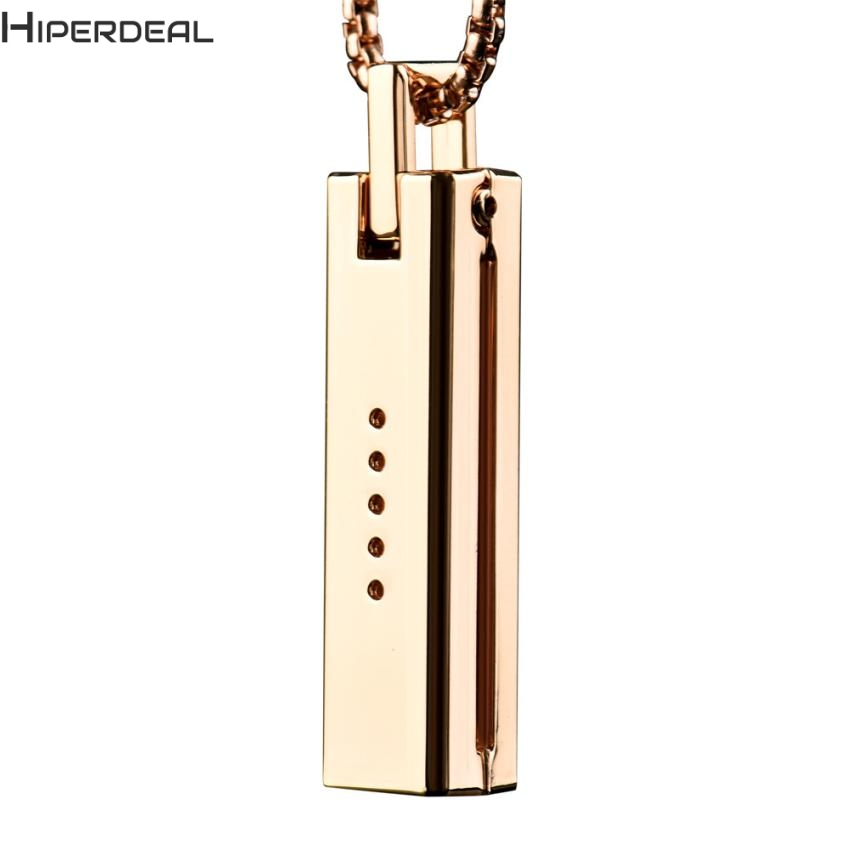 HIPERDEAL New Unique Metal Necklace Pendant Magnetic Holder Chain For Fitbit Flex 2 Flex2 Band 17Dec21 Dropshipping F ...