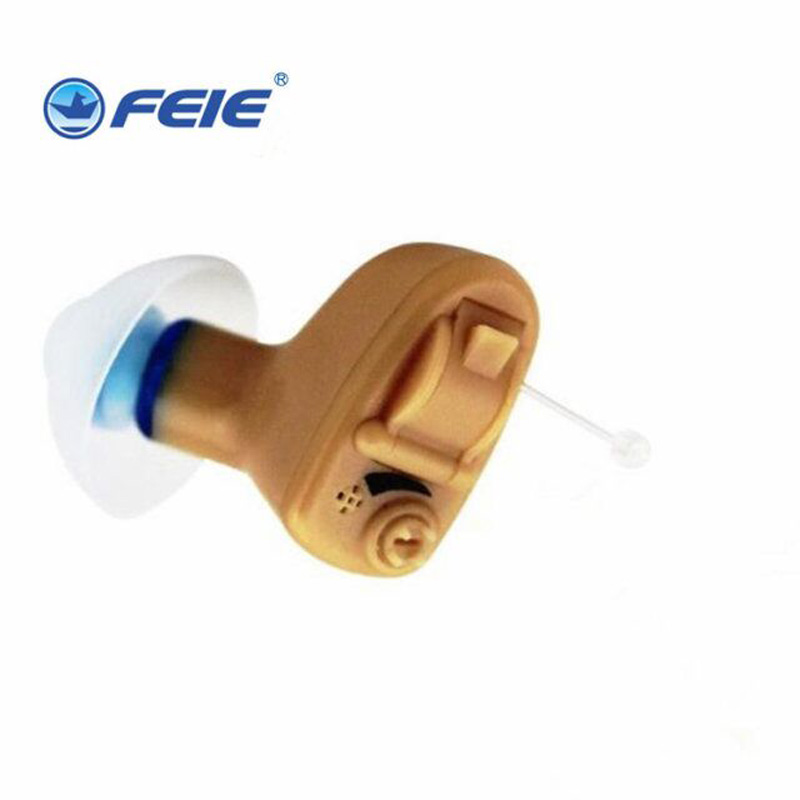 Feie Deafnees Earphone Hearing Aid Super Mini Hearing Aids Headphone Sound Amplifier for Elderly S-9A Aerophone Hearing Aide feie s 12a mini digital cic hearing aid as seen on tv 2017 aparelho auditivo digital earphone hospital free shipping