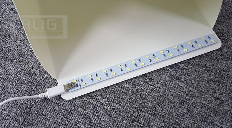 Ažurirano Mount 23cm Mini Sklopivi Studio Diffuse Soft Box s LED - Kamera i foto - Foto 2