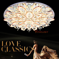 Surface Mounting Ceiling Light Fixtures Fashion Crystal Ceiling Lights Lamp Flush Mount Lighting Fixtures 110 240V