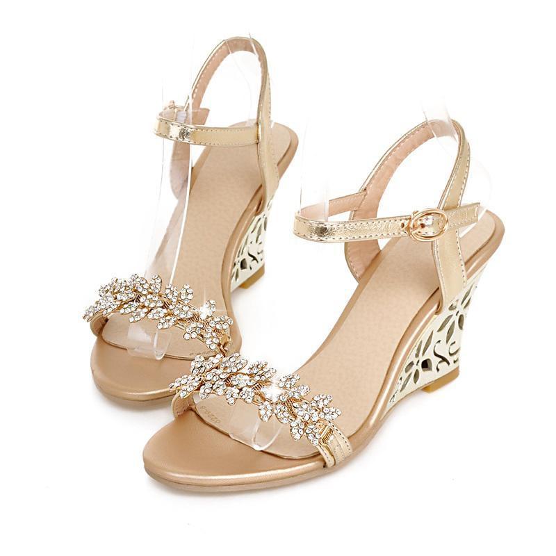 Popular Silver Rhinestone Sandals-Buy Cheap Silver ...