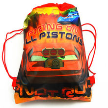 1pcs High Quality Disney Cars Cotton Drawstring Bags Kid Favor Travel Pouch Storage Clothes Shoes Bags School Portable Backpack(China)