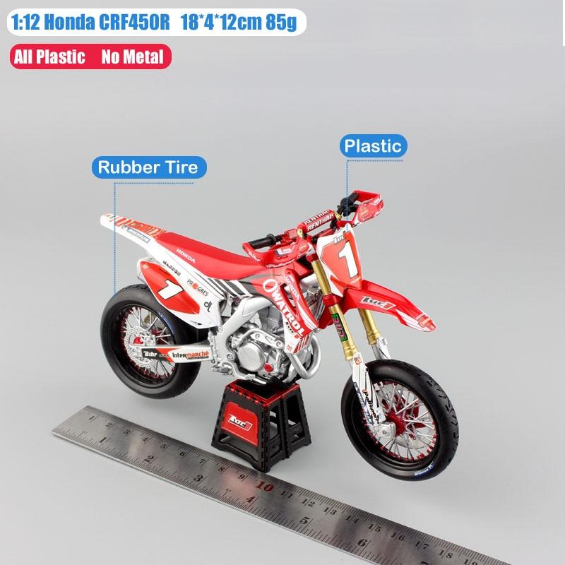 112 Mini Scale Honda Motocross Hrc Owatrol Crf450r Crf450 Supermoto