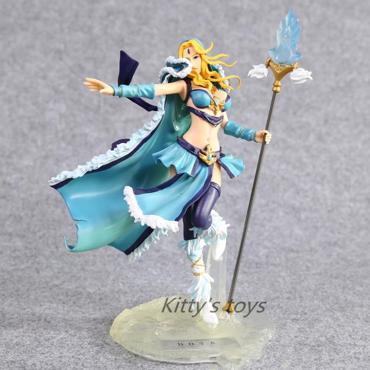 ФОТО DOTA 2 Crystal Maiden PVC Action Figure Collectible Model Toy 22cm  free shipping KB0177