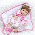 40cm NPKCOLLECTION Soft Body Slicone Reborn Baby Doll Toy For Girls Vinyl Newborn Girl Babies Dolls Lifelike Kids Child Gift