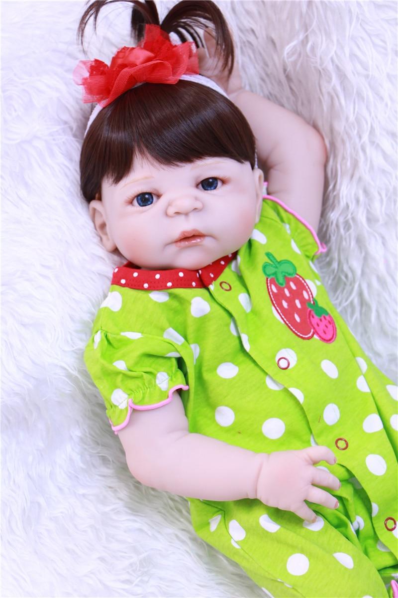 Милые девушки кукла реборн младенцев 22 55 см всего тела силиконовые куклы Reborn для детей подарок на день рождения Bebe реальные живые возрождается boneca - 3