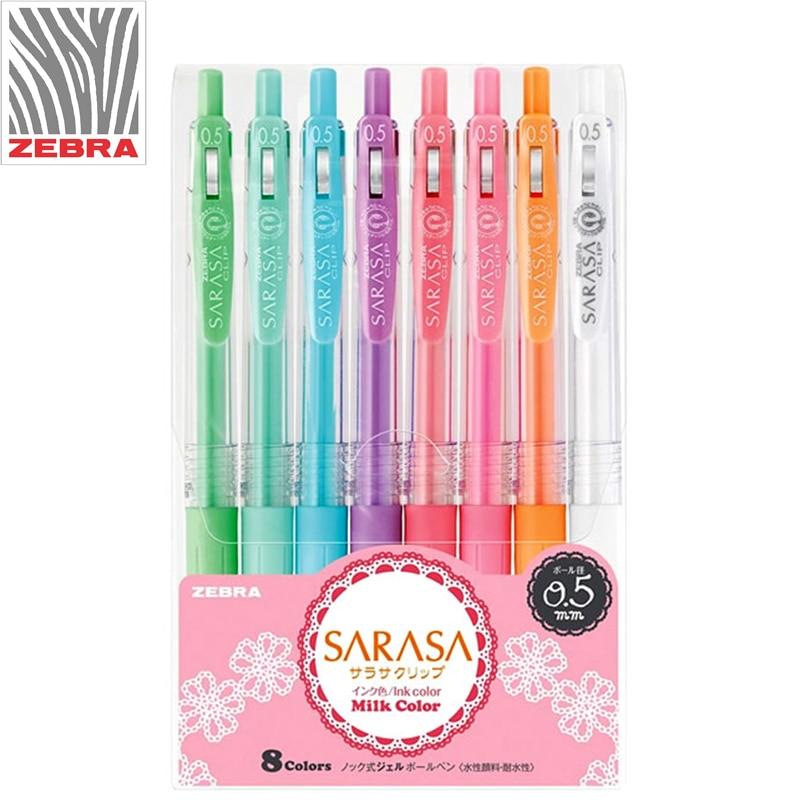 3/5/8pcs Set Zebra SARASA JJ15 Milk Color Gel Pen Light Color Line Drawing Pen Gel Pen 0.5mm