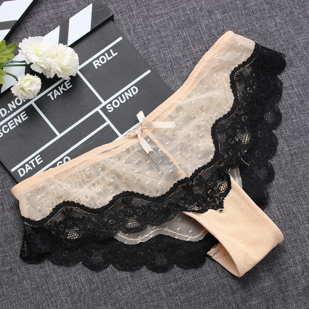 1PC Soft Breathable Sexy Women Panty Low-Rise Knickers Hollow Briefs Ultra Thin Underwear Lace Panties Lady Summer G-string