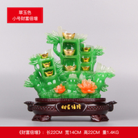 Gourd Fortune successively high placed pieces of feng shui bamboo crafts living room wine cabinet decoration opening gifts room
