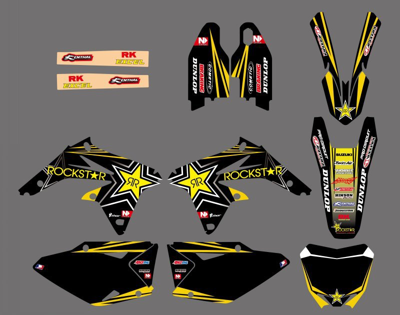 NEW Rockstar TEAM DECALS STICKERS Graphics FOR Suzuki RMZ450 RMZ 450 2008 2009 2010 2011 2012-2017 Motorcycle Sticker Decal representing reality page 8