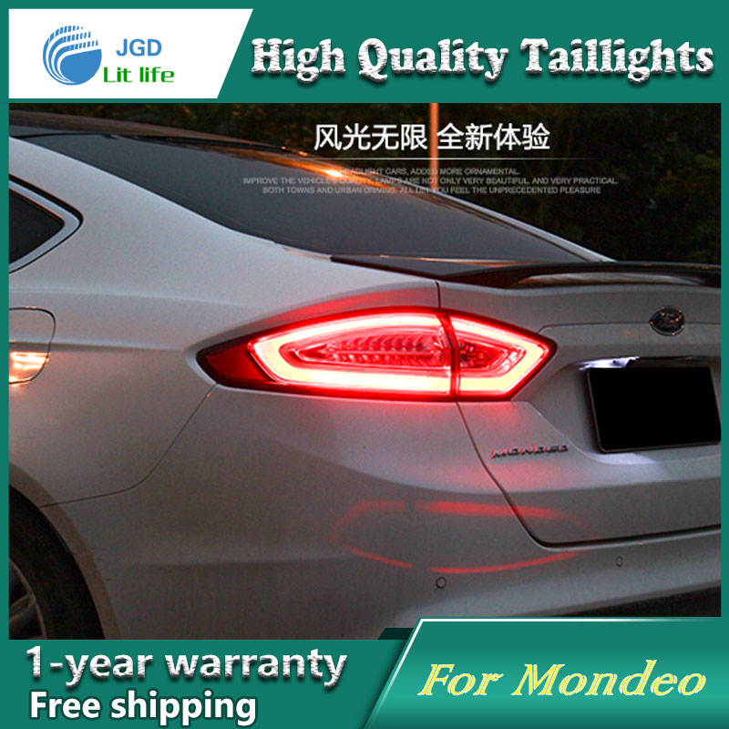 Car Styling Tail Lamp for Ford Mondeo taillights Tail Lights LED Rear Lamp LED DRL+Brake+Park+Signal Stop Lamp free shipping 2pc lot car styling led lights hi q stop lamp tail lamp for ford fusion ecosport