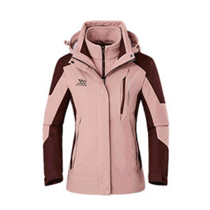 Femmes dame nouveau hiver imperméable à l'eau respirant surdimensionné femme extérieur vestes détachable coupe-vent Camp Ski randonnée Trek manteau chaud