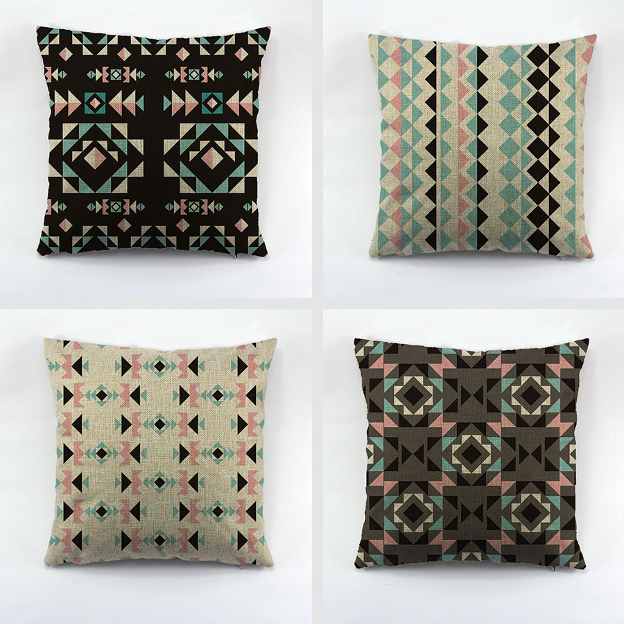 Superior The European And American Style Geometry Cotton Cushion Cover Pop Art  Design Throw Pillow Case Lumbar