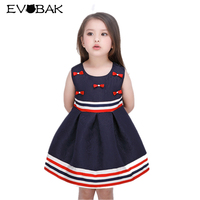 Girls Dress Summer Sleeveless Bow Striped Costume 2018 New Brand Kids Clothes Girls Dresses Fashion Cute