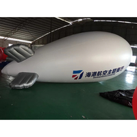 inflating airship balloons helium for advertising/0.18mm inflatable promotion giant PVC flying helium blimp airplane balloon