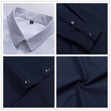 Fashion Brand Men Slim Fit Long Sleeve Shirt