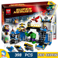 398 unids bela 10241 avengers incredible hulk smash de laboratorio thor niño modelo diy bloques de construcción de juguetes compatibles con lego