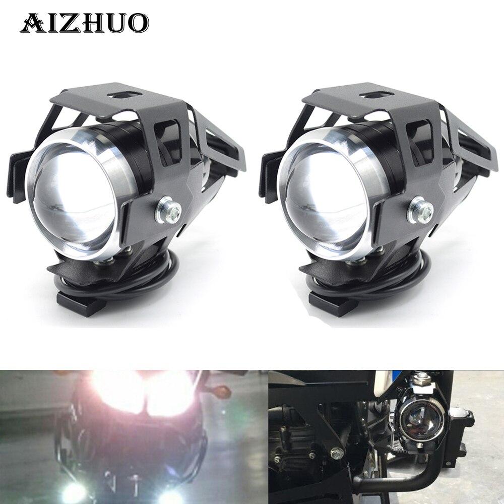 Universel 12 v Moto Métal Phare Conduite Spot Tête Lampe Brouillard Lumière Pour SUZUKI GSX 250 SV 650 DL250 Burgman 200 400 650