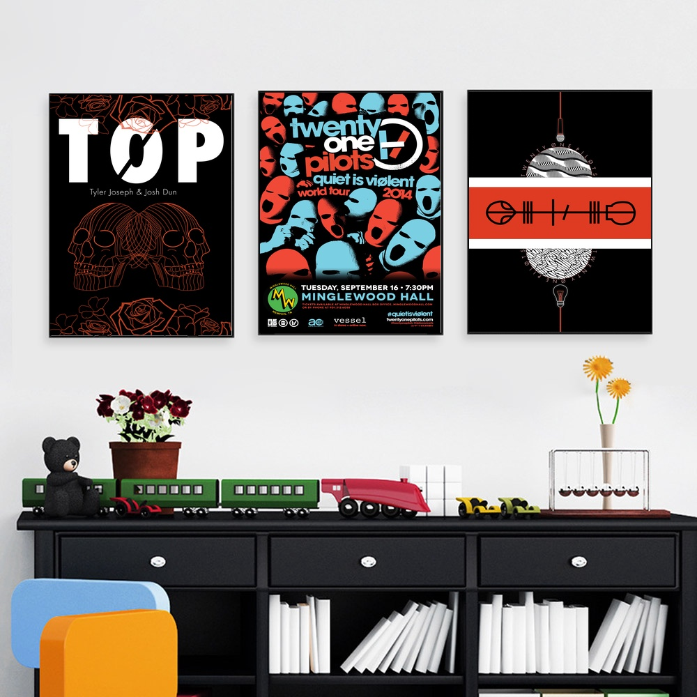Twenty One Pilots Pop Music Band Superstar Wall Posters
