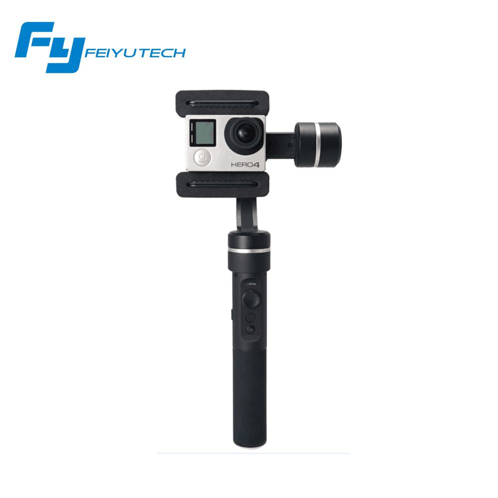 Feiyu Tech SPG Handheld Stabilizer Gimbal Selfie for Smartphone Action Cameras Gopro 5 Hero 4 Xiaomi yi SJ Cams F19235 feiyu tech g360 panoramic camera stabilizer handheld gimbal 360 for smartphones gopro action cameras app control f20474