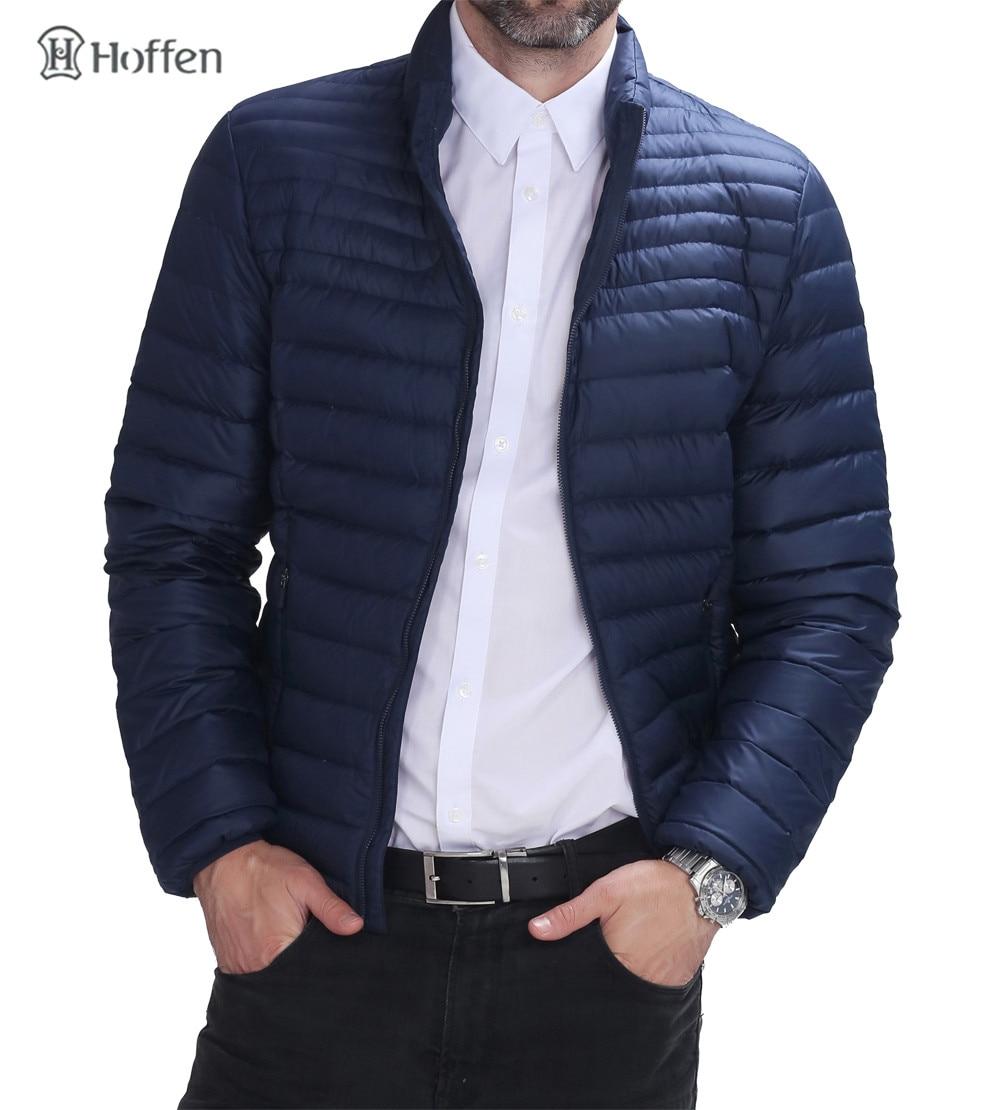 Hoffen 2017 Fashion 90% Duck Down Mens Winter Short Jacket Stand Collar Slim Fit Men Lightweight Packable Parka Coat RW16-KUM413