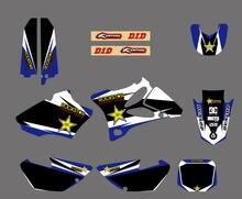 0040 Black Star КОМАНДА ГРАФИКА и ФОНА СТИКЕРА этикеты Комплект для YZ85 2002 2003 2004 2005 2006 2007 08 09 10 2011 2012