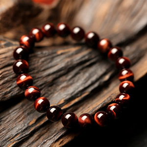 Image 3 - Minimalist 8MM Natural Stone Prayer Beads Tiger Eye Bracelet Handmade Red Brown Natural Stone Braclet For Men Yoga Jewelry Homme