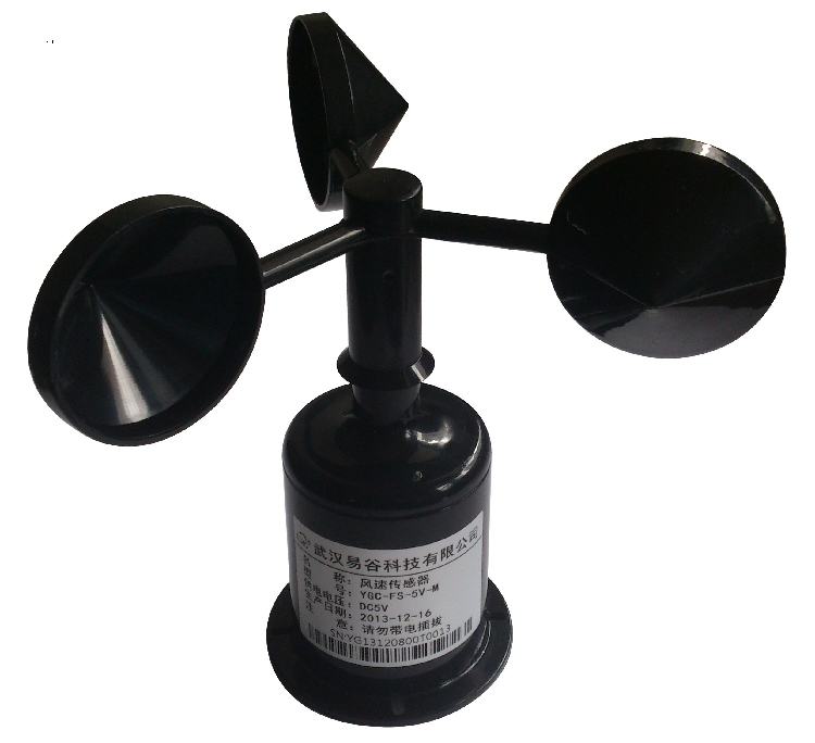 YGC-FS wind sensor transmitter cups anemometer standard 5V power supply pulse signal output 4 20ma 0 5v 0 10v wind direction sensor anemometer small weather station parts from factory