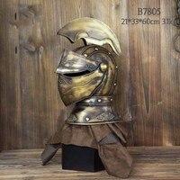 Antique European Bar Decoration Ancient Roman Helmet Iron Decoration Creative Studio Props
