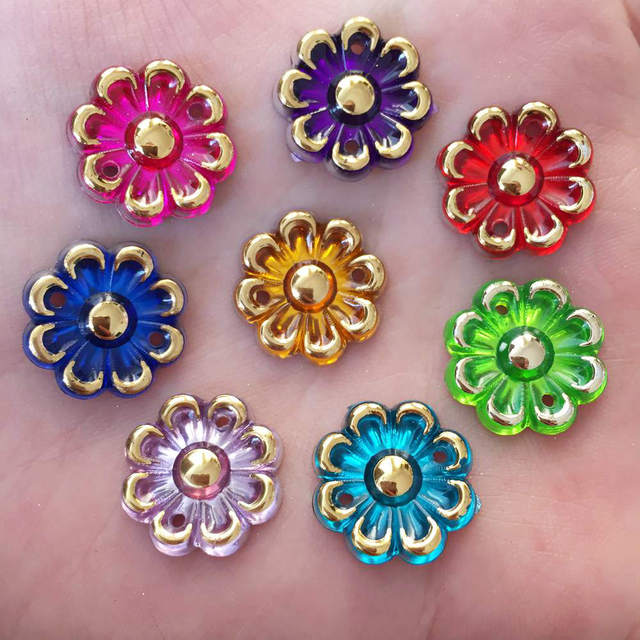 US $0 99  20PCS 16mm AB Acryls Flower Rhinestone Flatback Wedding Diy  Button 2 Hole Crafts K29-in Buttons from Home & Garden on Aliexpress com  