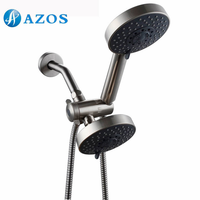 Bathroom Five Function Handheld Shower And Showerhead Combo System Hose Brushed Nickel Stainless Steel Color Lytz051