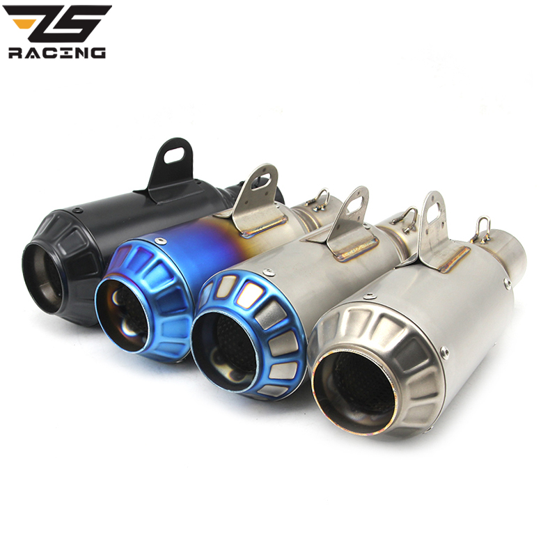 ZS Racing Yoshimura Titanium Motorcycle GP-Force Dirt Bike Exhaust Pipe Akrapovic Muffler Silencieux Moto Escape Aventura ar austin racing sc project akrapovic muffler silencer mivv yoshimura cbr 250cc 300cc escape moto exhaust pipe accessories