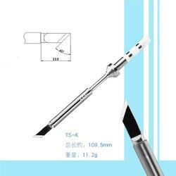 Wymiana lutowane żelazo wskazówka urządzenie elektryczne narzędzie spawalnicze dla TS100 cyfrowy lutownica TS I TS KU TS D24 TS C4 TS K|Elektryczne lutownice|   -