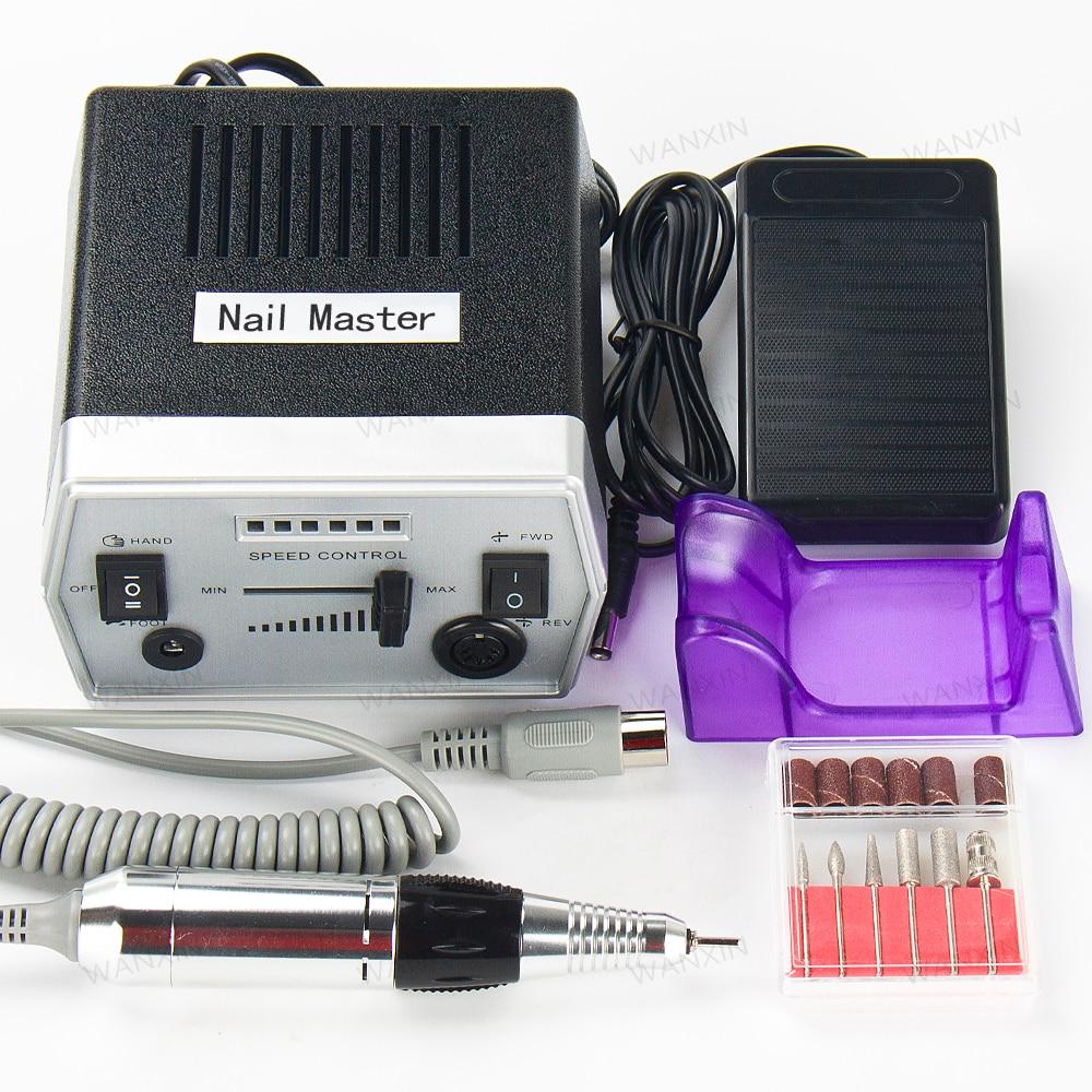 2018 hot sale Professional Nail Tools Nail Art File Bits Machine Manicure Kit 30000 RPM 110V/220V Electric Nail Drill