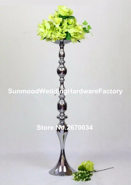 Mental Stand Only Lattest Metal Pedestal Stands For Flowers Floor Vase Trumpet Walkway Wedding