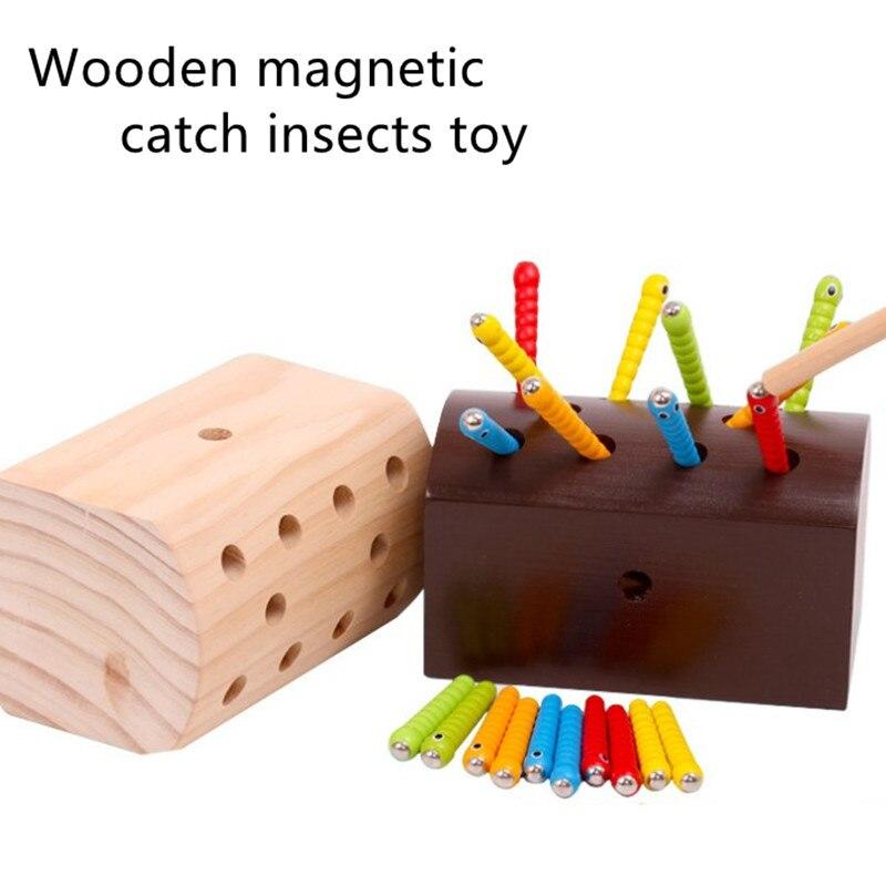 пазлы детские головоломки магнитные червячки деревянный развивающие игрушки малышей для детей игры 3д электролобзик