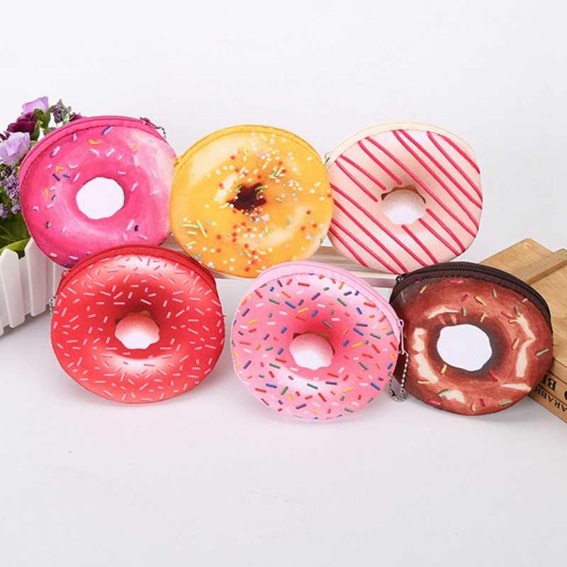 Popular Cute Cartoon Creative Donut Coin Purse Series A Variety Of Colors Wallet Card Bag Girl Women Student Gift