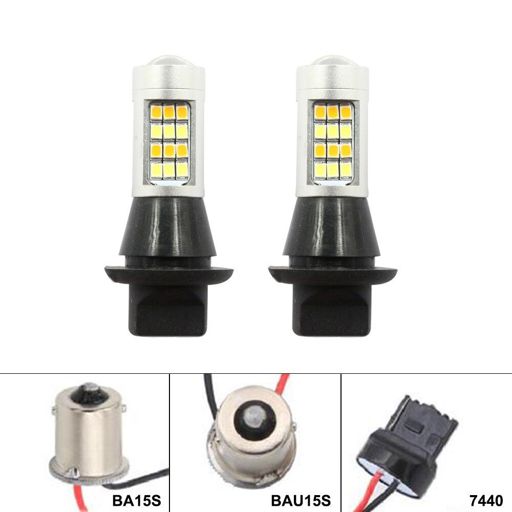 Tagfahrlicht + Blinker ba15s BAU15S 1156 p21w 42led T20 W21W WY21W 7440 licht Dual Modus DRL LED externe Lichter