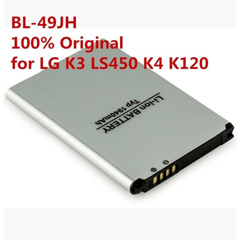 100% Original BL-49JH batería para LG K3 LS450 K4 K120 juerga K121 K130 k120e K130e 1940 mAh bl 49jh