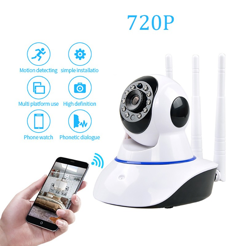 Home Security mini 720P IP Camera Wireless WiFi Network Camera Surveillance HD Night Vision CCTV Baby Monitor P2P Camera 1mp mini camera ip wireless 720p hd smart 180 panoramic network mini security p2p camera home cctv surveillance ip camera
