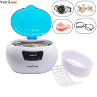 Ultrasonic Nail Polish Cleaning Autoclaves Sterilizer Pot Beauty Salon Equipment Tools, Low Noise Wash Machine With Time Setting