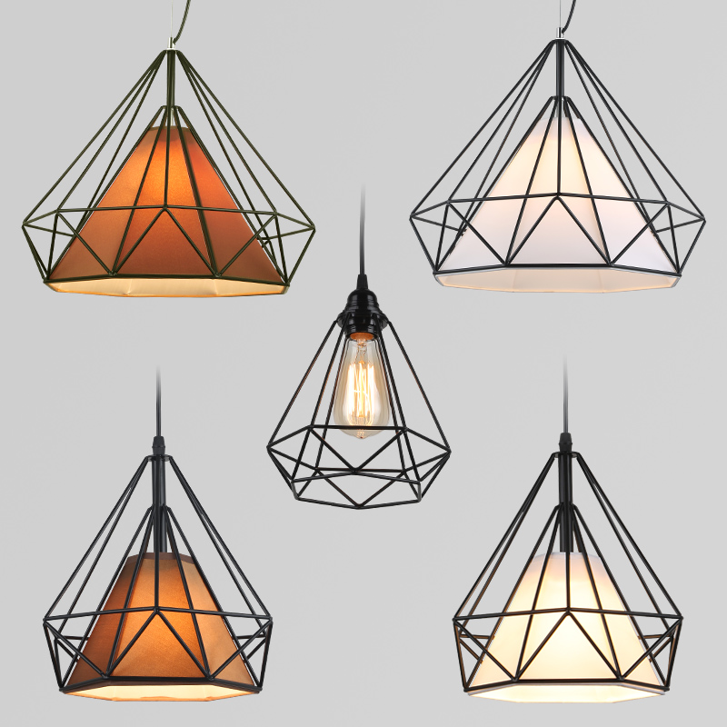 Loft Retro Hanging Lamp Industrial Minimalist Iron Pendant Light Bar Cafe Restaurant Warehouse E27 Lamp Holder Vintage Lights birdcage pendant lights minimalist pyramid light iron led pendant lamp hanging light cafe bar restaurant e27 vintage loft lamps