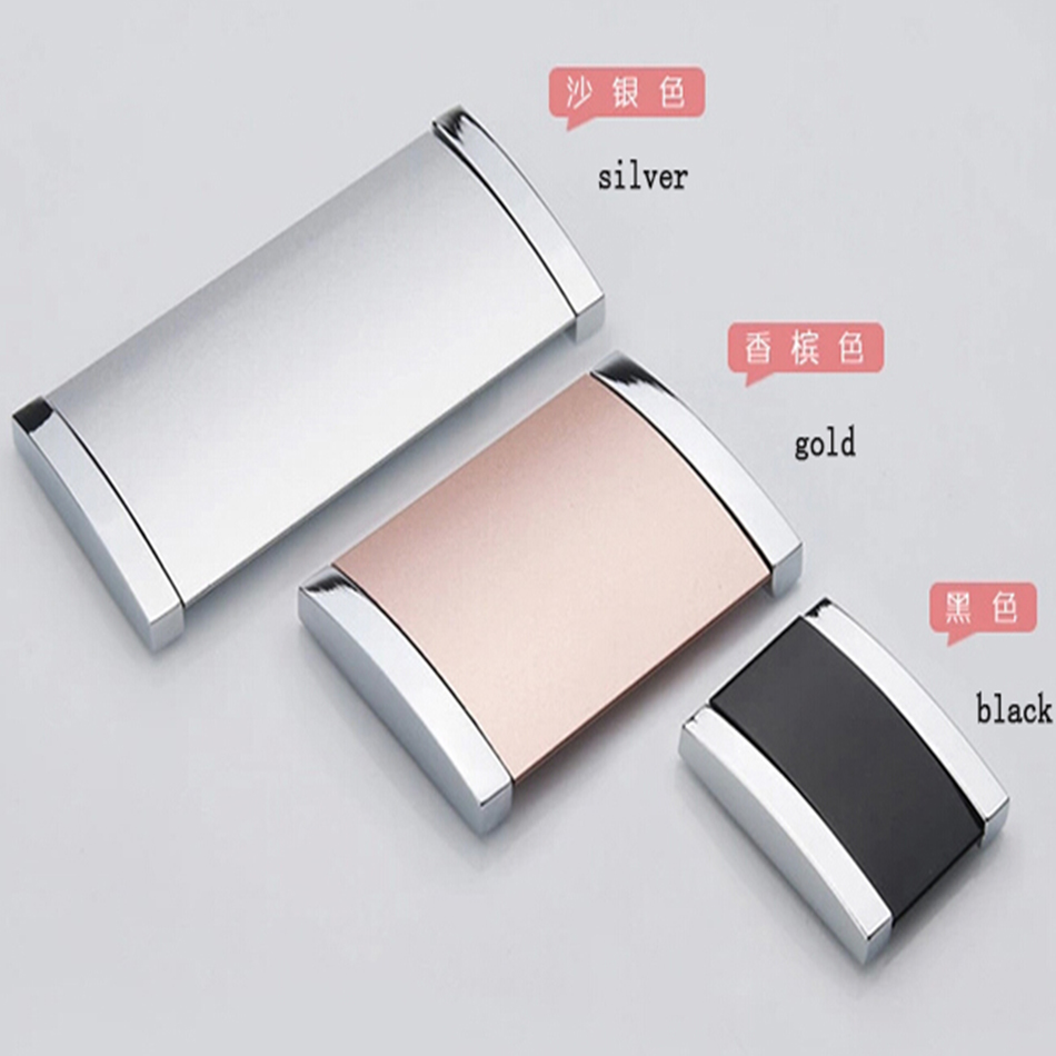 Free Shipping Aluminium Alloy Furniture Hardware Drawer Pulls Hidden shake handshandle Handle ...