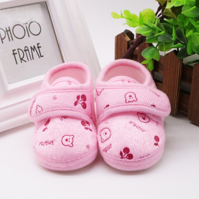 Baby Autumn Winter Lovely Boys Girls Padded Newborn Infant Soft Warm First Walkers Toddlers Fleece Shoes