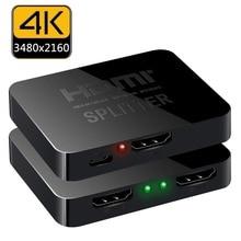 Tesla smart 1x2 HDMI Splitter 1 Input 2 Output HDMI Amplifier Switcher Box Hub Support 4Kx2K@30Hz 3D 2160P for DVD Player TV BOX