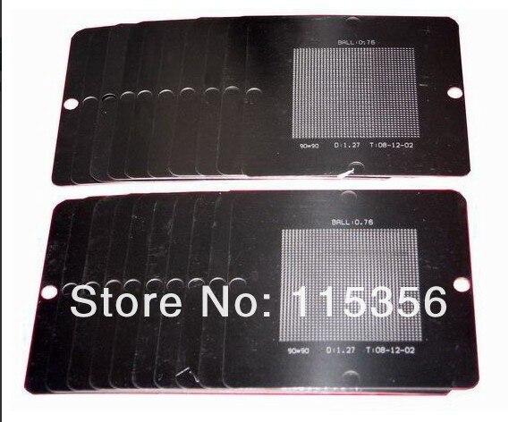 free shipping completely set 27pcs/lot 90mm size precision universal bga reball stencils bga soldering Tin template