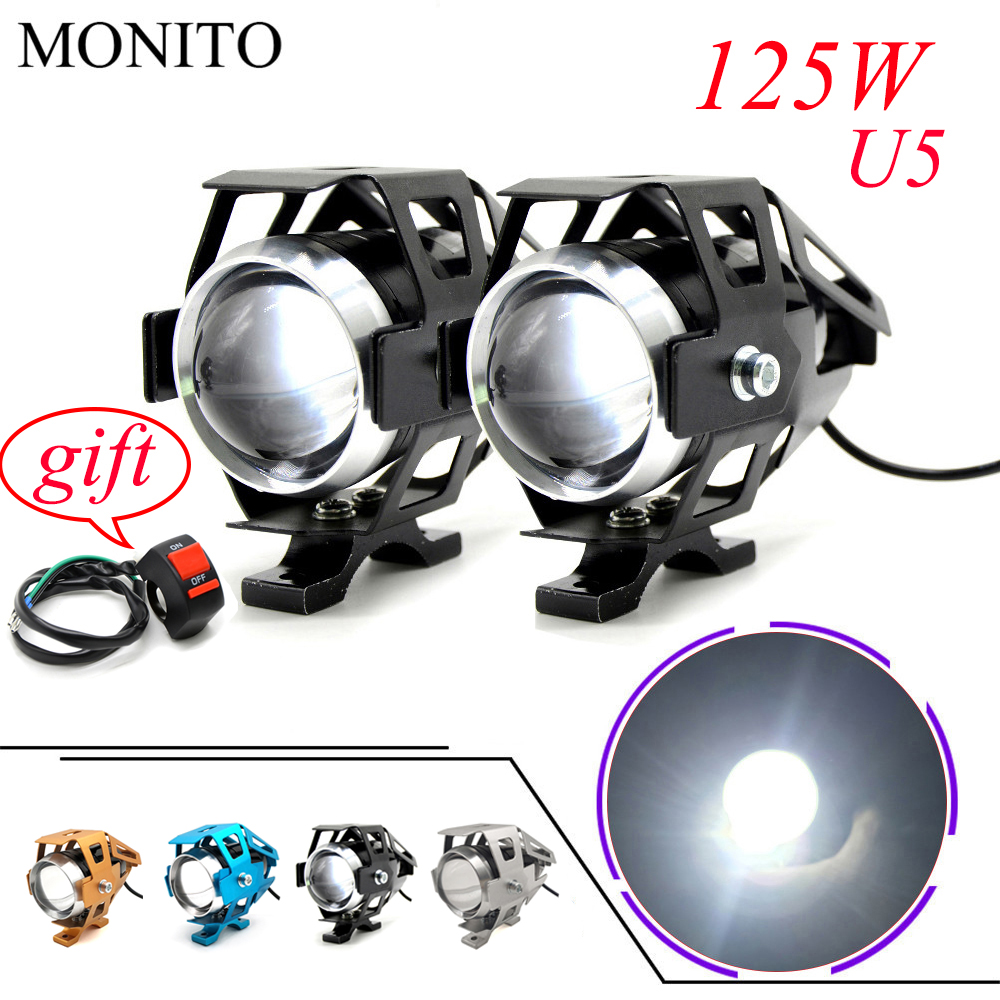 For <font><b>YAMAHA</b></font> mxt850 niken gt XT1200Z yzf <font><b>r1</b></font> r3 r25 r6 r125 Motorcycle Light <font><b>LED</b></font> Driving <font><b>Headlight</b></font> Fog Light Auxiliary Lamp 12v U5 image