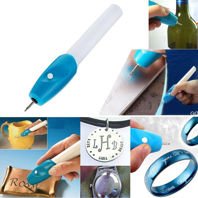 hot electric jewellery metal plastic glass wood engraver pen carve tool powered by 2 aa batteries