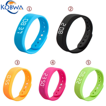 New Fashion T5 Multifunctional 3D Sensible Wristband Sport Wearable Units Pedometer LED Display Health Bracelet With Alarm Clock