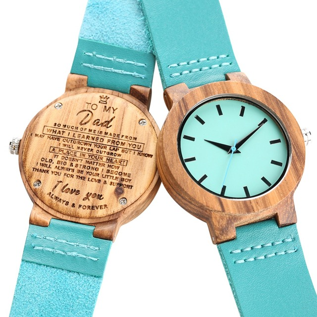 Bamboo Wooden Watch Quartz Analog Couple Watches Leather Band Casual Unisex Lightweight Valentine's Day Gift reloj para pareja